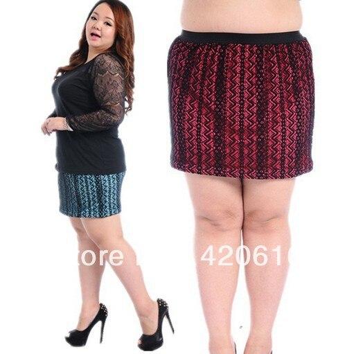 plus la taille mini jupe sexy serrés mode fat femmes mode lacet coréenne  femelle grande taille grand jupe courte slim qualité dans Jupes de Femmes  Vêtements ...
