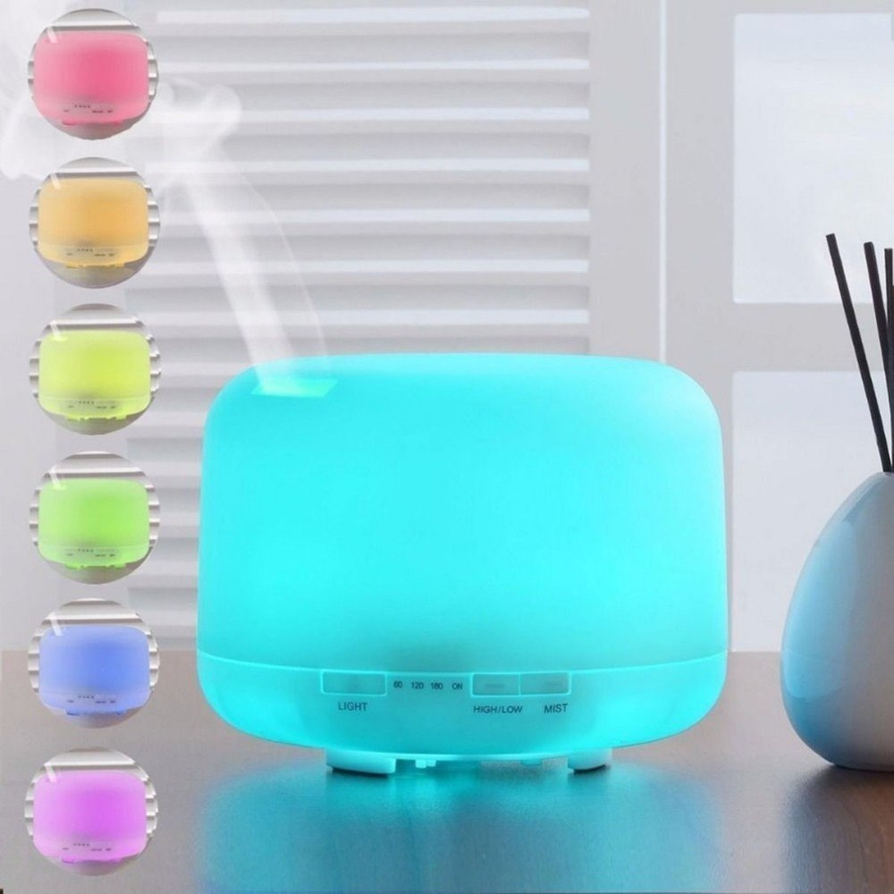 V-M500 Ultrasonic 500ML Air Humidifier Essential Oil Aroma Diffuser Colorful Night Light Mist Maker Diffuser for Office Spa 500ml usb air humidifier essential oil diffuser mist maker fogger mute aroma atomizer air purifier night light for home