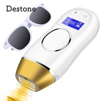 Destone Photoepilator Permanent Hair Removal Depilador System IPL 400,000 Flashes Painless Laser Epilator for Face Body Bikini
