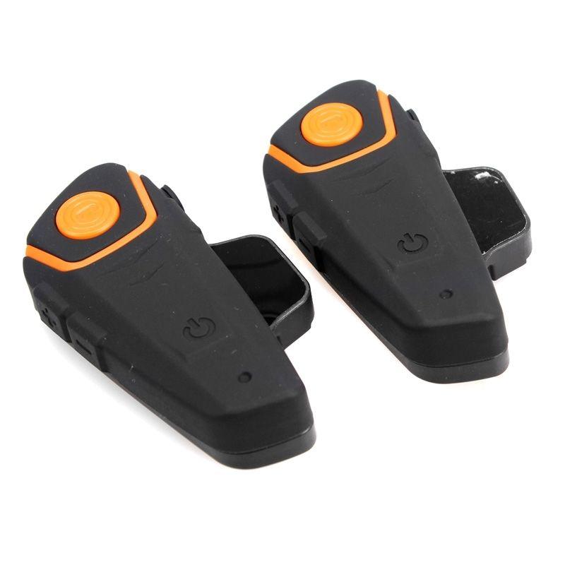 2x BT Motorcycle Helmet Headset waterproof Motorbike Intercom Headset 1000M BT S2 Bluetooth Interphone Headset FM