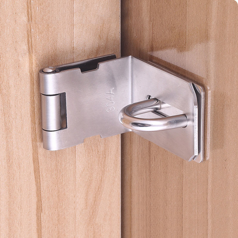 Door Hasp Latch 90 Degree Stainless Steel Safety Angle