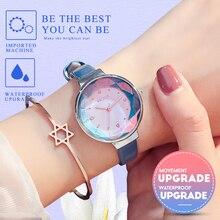 KEZZI модные женские туфли часы роскоши алмаза часы женские кварцевые наручные часы Relojes Mujer 2018 Для женщин горный хрусталь часы синие кожаные