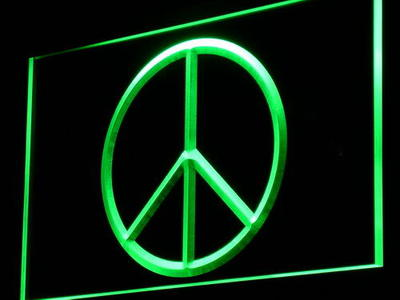 i910 Peace Peaceful Display Home Decor Light Sign On/Off Swtich 20+ Colors 5 Sizes