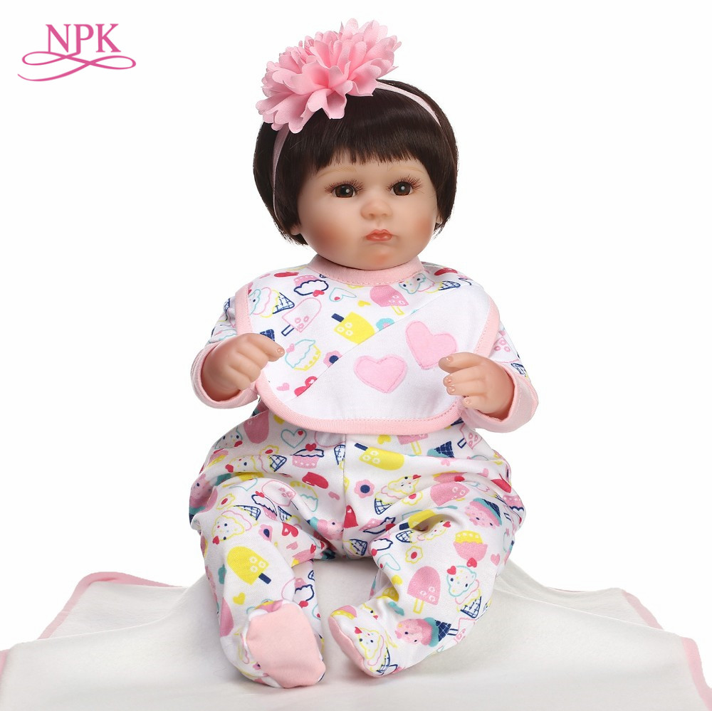 NPK 40CM Real Silicone Girl doll Reborn Baby Girl s Toys Realistic Newborn Princess Babies Fashion