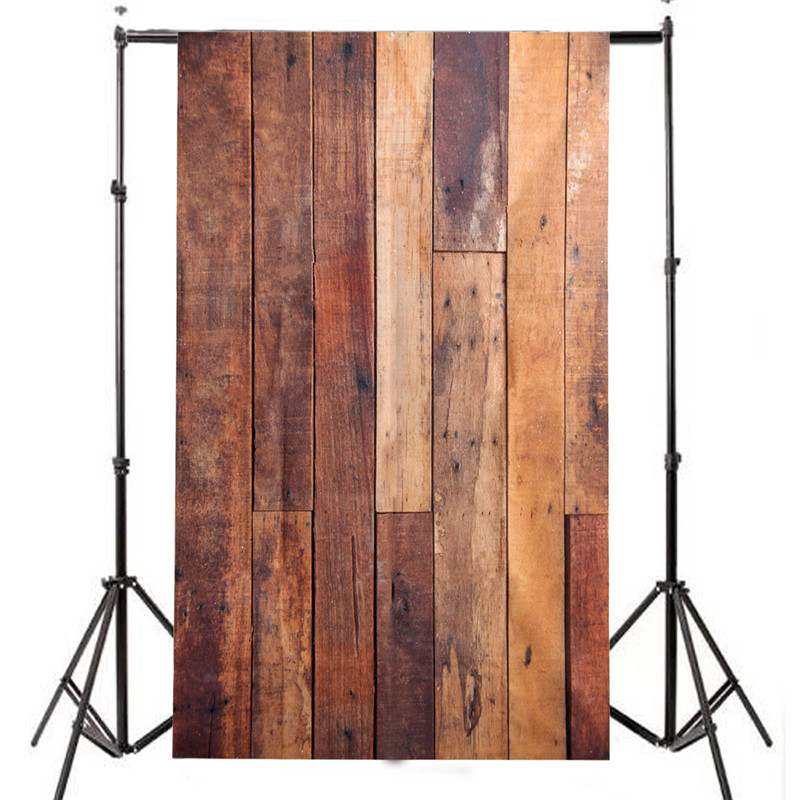 3 x 5ft Vinyl Retro Photography Backdrop Photo Wooden Floor Studio Prop Background Cloth 90 x