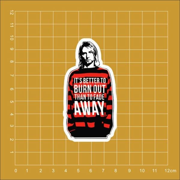Nirvana Kurt Cobain Notebook Refrigerator Skateboard Trolley Case Backpack Tables Book PVC Waterproof Car Sticker