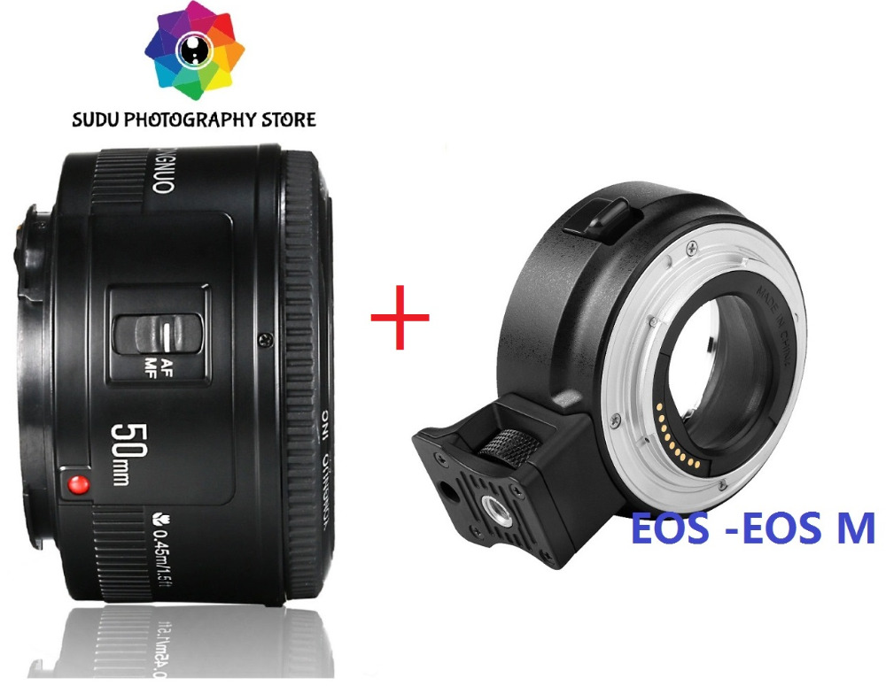 for CANON EOS M SERIES 50mm f1 8 Lens EF EOSM LENS ADAPTER