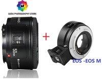 Für CANON EOS M SERIE 50mm f1.8 Objektiv + EF-EOSM OBJEKTIV ADAPTER