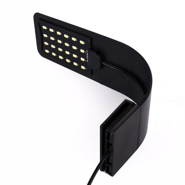 Lámpara de Clip Flexible de acuario de alto brillo con cabeza de pecera LED para iluminación