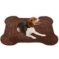 Petacc Alta qualidade Anti-slip Capacho Pet Dobrável Portátil Cobertor Mat Pet Cão Sujo com Padrão Ósseo