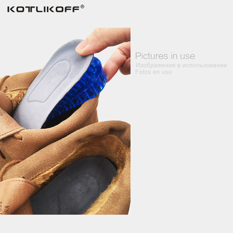 Image 5 - Invisible Height Increased Insoles For Shoes Massaging Silicone Soft and elastic Half Foot Pad Shoe Lift Feet For Height Insolesshoe liftheight increase insoleincrease insole -