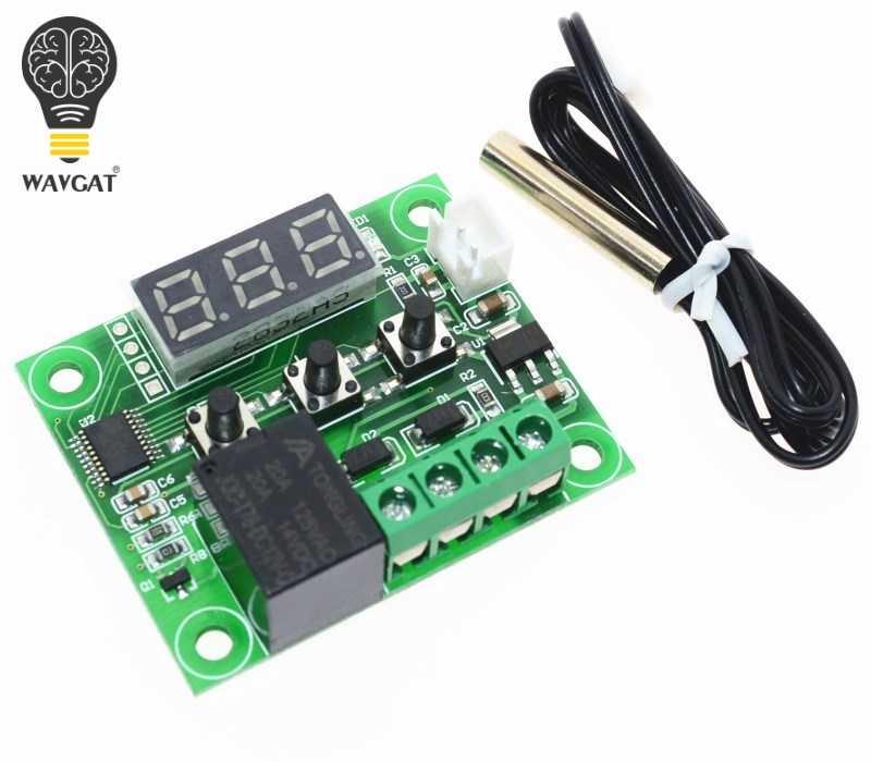 1 pièces W1209 DC 12 V chaleur cool temp thermostat interrupteur de contrôle de température régulateur de température thermomètre thermo contrôleur