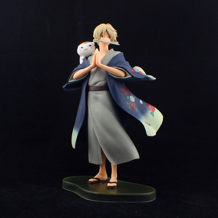 цены  Huong Anime Figure 20 CM Natsume's Book of Friends Natsume Yuujinchou Takashi Natsume PVC Action Figure Model Toy Collectibles