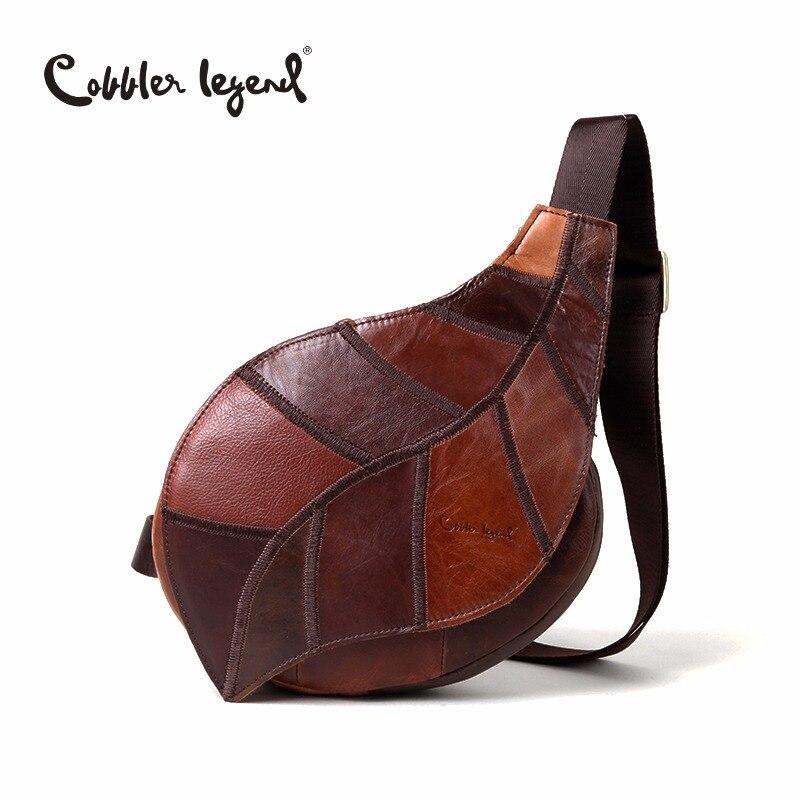 Cobbler Legend Brand Design 2019 Genuine Leather Bag Chest Pack Women s Messenger Bag Vintage Shoulder