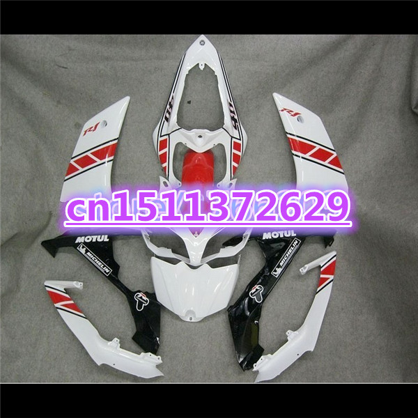 Bo YZF <font><b>R1</b></font> 07 08 <font><b>Fairings</b></font> for YZF-<font><b>R1</b></font> 07-08 white red black <font><b>fairing</b></font> kits YZF1000 <font><b>R1</b></font> 07 08 100%NEW YZF <font><b>R1</b></font> <font><b>2007</b></font> 2008 image