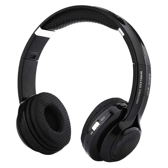 ca340d09a05 JKR 208B Casque Audio Bluetooth Headset wireless Over Ear Big Earphone Good  Bass Cordless Headphones with FM Radio for Mobile