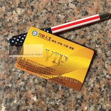 1000 ชิ้น/ล็อต CUSTOM PVC VIP Card & บัตรพลาสติกสมาชิกบัตร Gilding โลโก้/หมายเลขซีเรียลธุรกิจการ์ดการพิมพ์