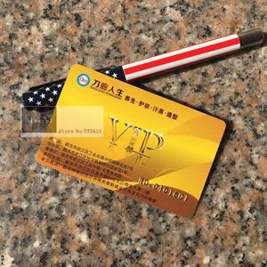 Image 1 - بطاقة مخصصة من الكلوريد متعدد الفينيل 1000 بطاقة VIP وبطاقات عضوية بلاستيكية مع شعار التذهيب/اسم الرقم التسلسلي للطباعة على بطاقات الأعمال