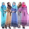 Nueva Moda Mujeres Musulmanes Ropa Islámica Tradicional Nacionalidad Traje Vestido de Gasa Gran Swing Vestido Más Tamaño Abaya