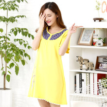 2016 Fashion Summer Style Women's Cotton Sleepshirts Sexy Sleeping Dress Nightgown Home Clothes Sleepwear Camisones de Dormir