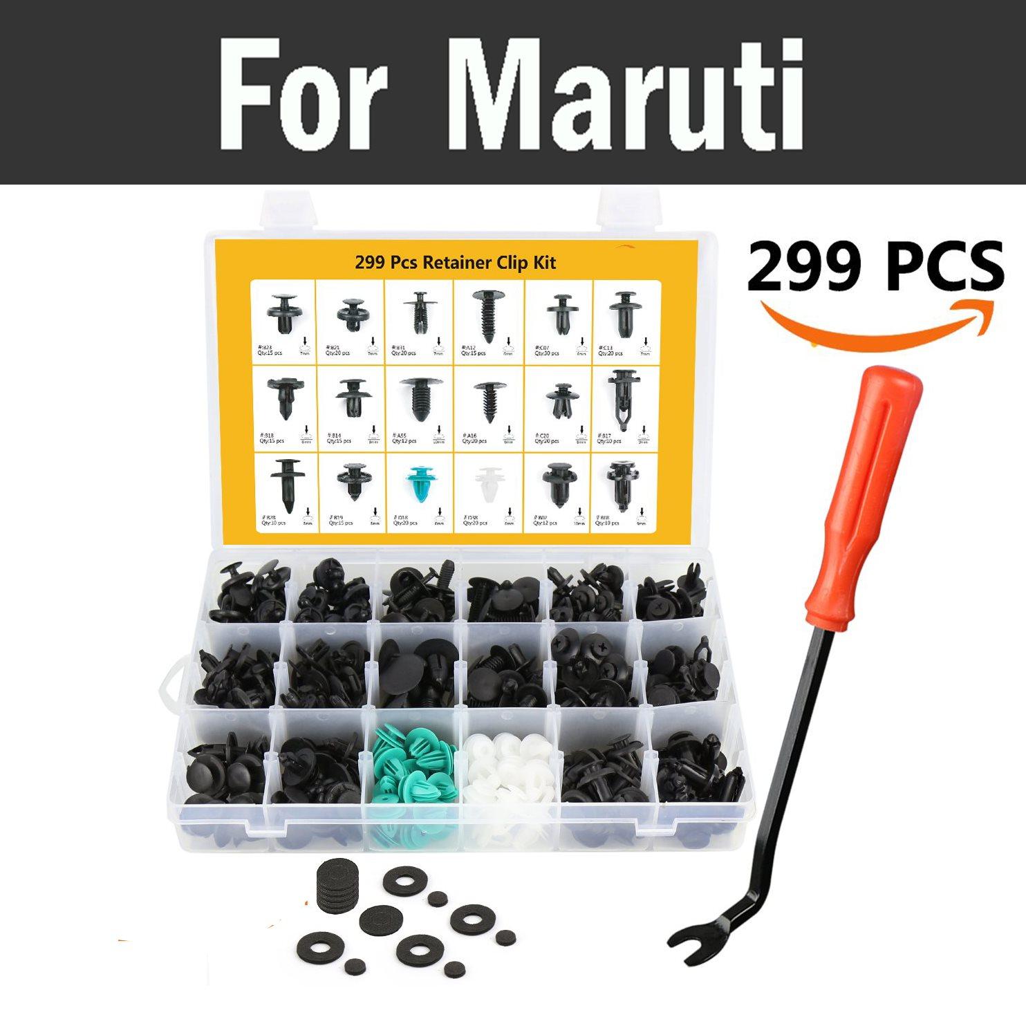 299pcs Car Retainer Kit Pliers Tool Trim Clips Rivets With Fastener Remover Rivets For Maruti 800 Alto Baleno Esteem Gypsy Zen