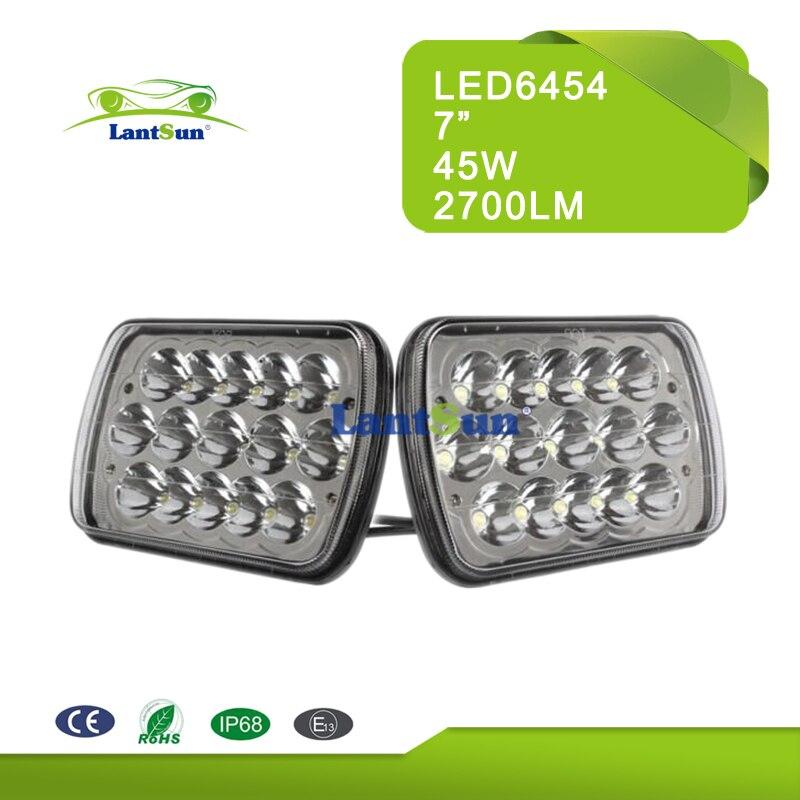Pair 7x6 LED hi lo beam LIGHT BULBS CRYSTAL CLEAR SEALED BEAM HEADLAMP HEADLIGHT