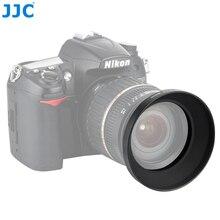 JJC uniwersalna metalowa szerokokątna osłona obiektywu 49mm 52mm 55mm 58mm 62mm 67mm 77mm 82mm przykręcana osłona obiektywu aparatu