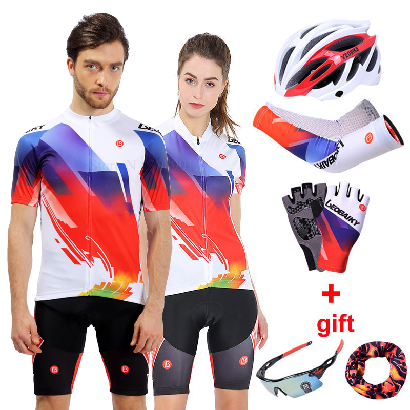 2019 Team Pro Cycling Jersey Set Men Mtb Racing Bike Clothing Cycling Sportswear Bicycle Wear Clothes Women Uniform Riding Suit in Cycling Sets from Sports Entertainment