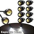 10x Pure White 5730 9 W 18mm Motor DRL Olho de Águia LEVOU Carro Luzes De Backup lâmpadas 12 V