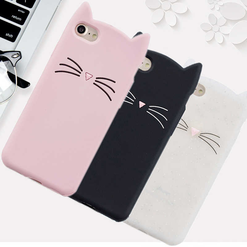 """מכירות חמות! חתול חמוד 3D טלפון סיליקון רך Case כיסוי עבור Apple iPhone 6 בתוספת 6 S Plus עבור iPhone 6 s בתוספת 5.5 """"מקרי ג 'ל פגז"""