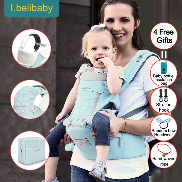 Ibelibaby נושאות תינוק תרמיל רך נוח מנשא Warap כותנה לנשימה גלישת קנגורו תיק חסר ריח תינוקות HipSeat