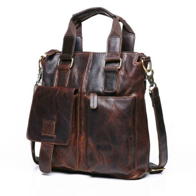 Hot Sale Men Shoulder Bag Leather Handbag Shoulder Men Bag Genuine Leather Business Men's Briefcase Messenger Bag Crossbody Bags 100% genuine leather men bag brand designed men laptop briefcase business bag cow leather men handbag shoulder bag messenger bag