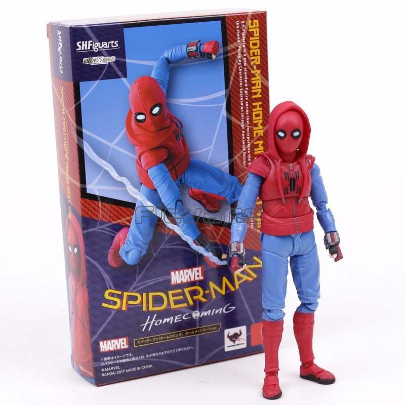 Super Hero Figuarts Spiderman Homecoming Spider-Man Made Suit PVC Action Figure Toy Collectible Model Boys Gift spiderman creator x creator the amazing spider man pvc figure collectible model toy