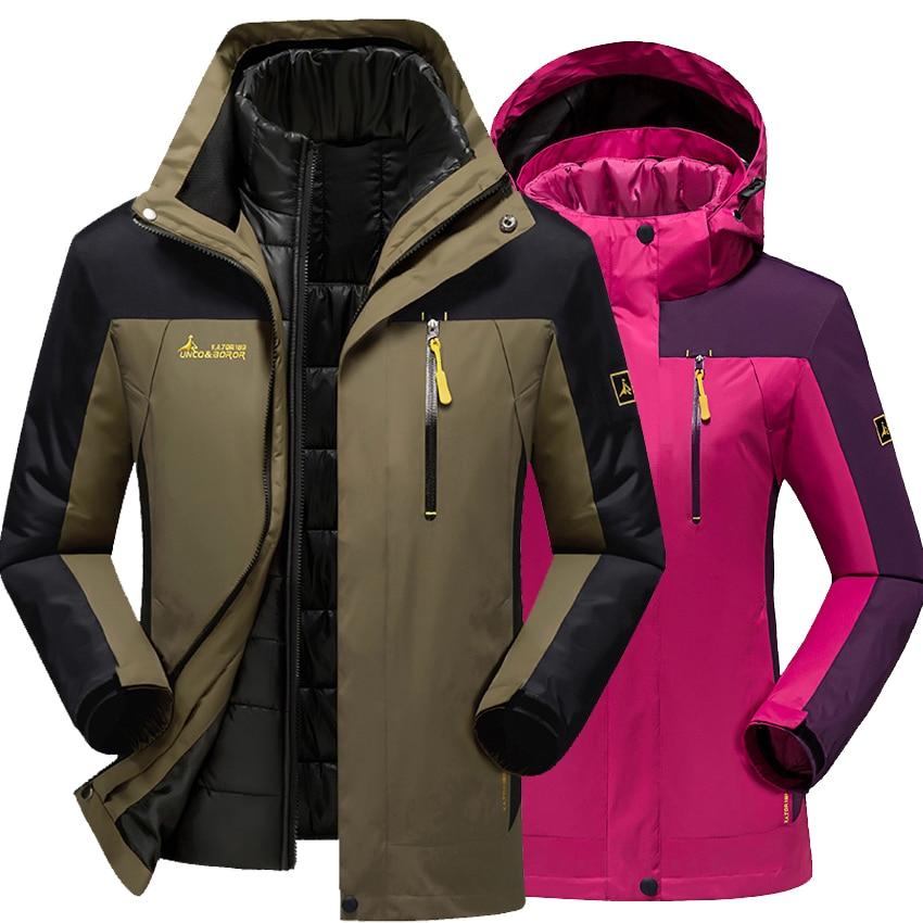 Men women jacket outdoor thick windbreaker male Winter Camping & Hiking down liner coats for Men women Windproof Hooded jackets цена 2017