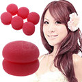 U119 Free Shipping 6 pcs Orange Soft Balls Soft Sponge Hair Care Curler Rollers New