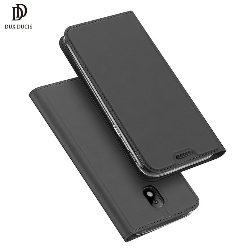DUX DUCIS Estojo De Couro de Luxo Para Samsung Galaxy J3 2017 caso Capa Protetora Flip Para Samsung J3 2017 Casos de Telefone J3 (2017)
