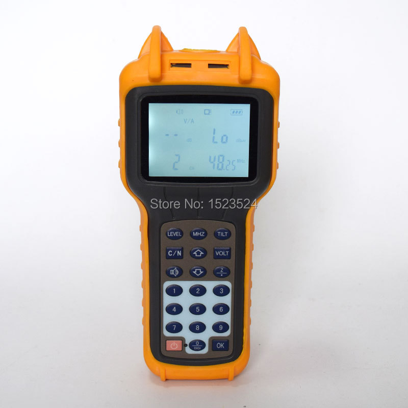 CATV Signal Level Meter 46 870MHz CATV Cable TV Tester RY S110 Analog TV Meter