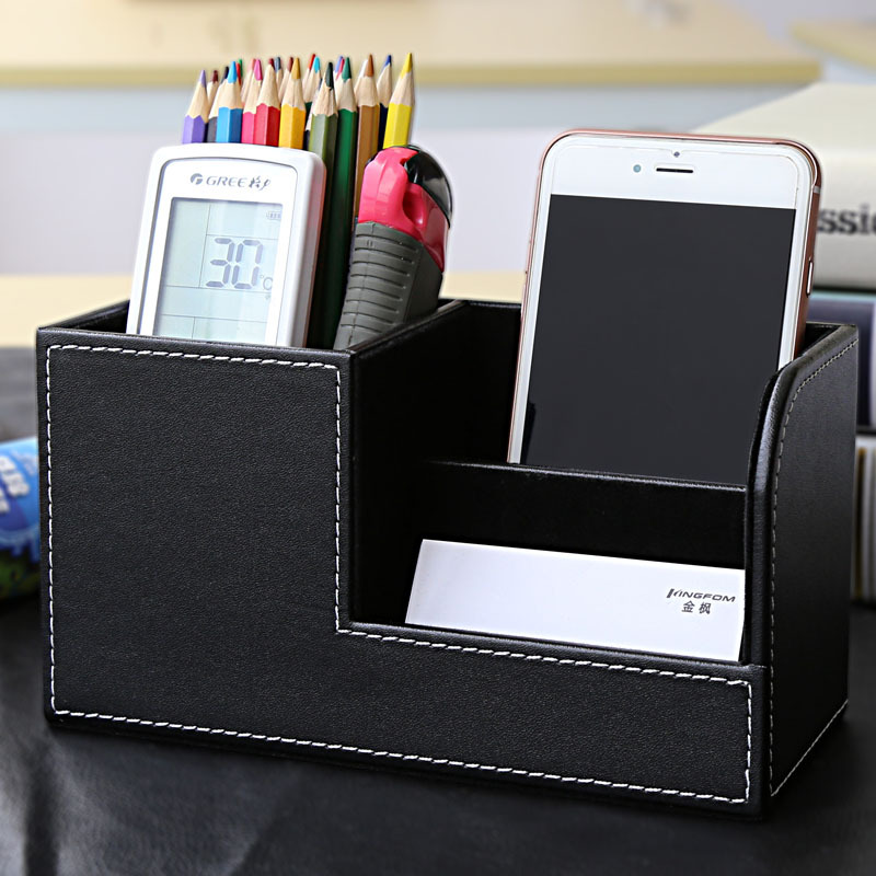 Pen Holder for Desk Organizer Accessories PU Brush Nurse Office Pencil Storage Desktop Multifunction Square Stationery Supplies korean color multifunction pen holder table stand box for pencil storage student stationery office organizer school supplies