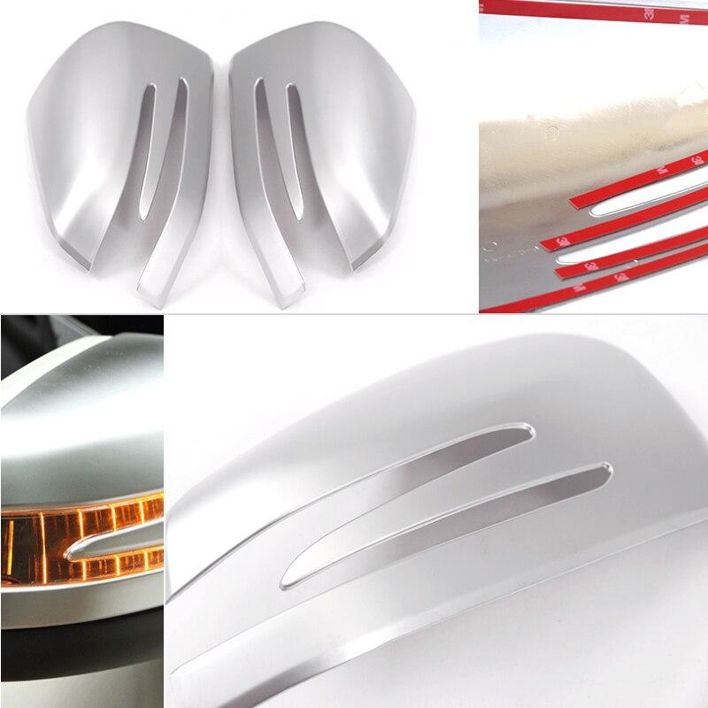 Car Abs Chrome Side Rearview Mirror Frame Cover Trim For Mercedes Benz A B Gla Cla Glk C E Class W246 W204 W176 W212 X156 W221