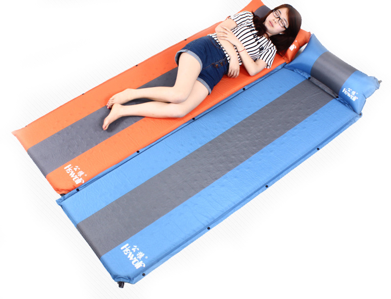 ФОТО 200*65*3cm Outdoor automatic inflatable camping mat 3cm memory foam ground mat moisture-proof stitching air bed inflatable mattr
