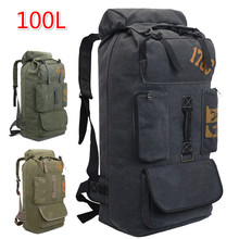Canvas Backpack Super Big Capacity 100l Men Travel Traveling Bags Duffle Duffel Weekend Sport Women's Bag Large Luggage Trip factory men travel bags duffle big duffel laptop backpack schoolbag packing large capacity folding mochila bolsas dropshiping