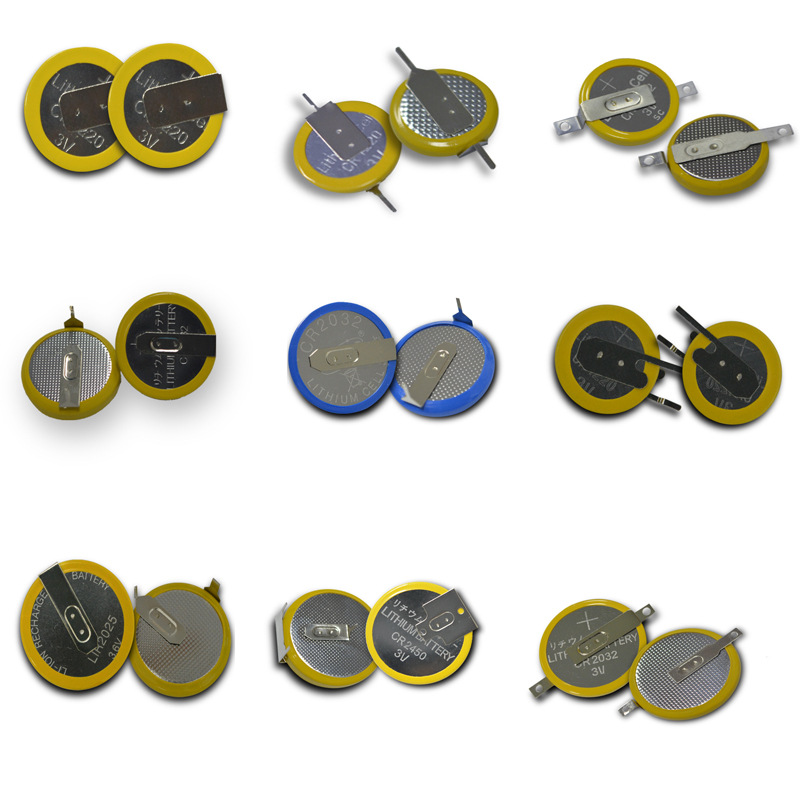 500pcs Lithium <font><b>Batteries</b></font> for Nintendo GBA GB GBC game cards cr2025 cr1620 <font><b>cr2032</b></font> cr2016 cr1616 solder Tabs 3v button cell coin image