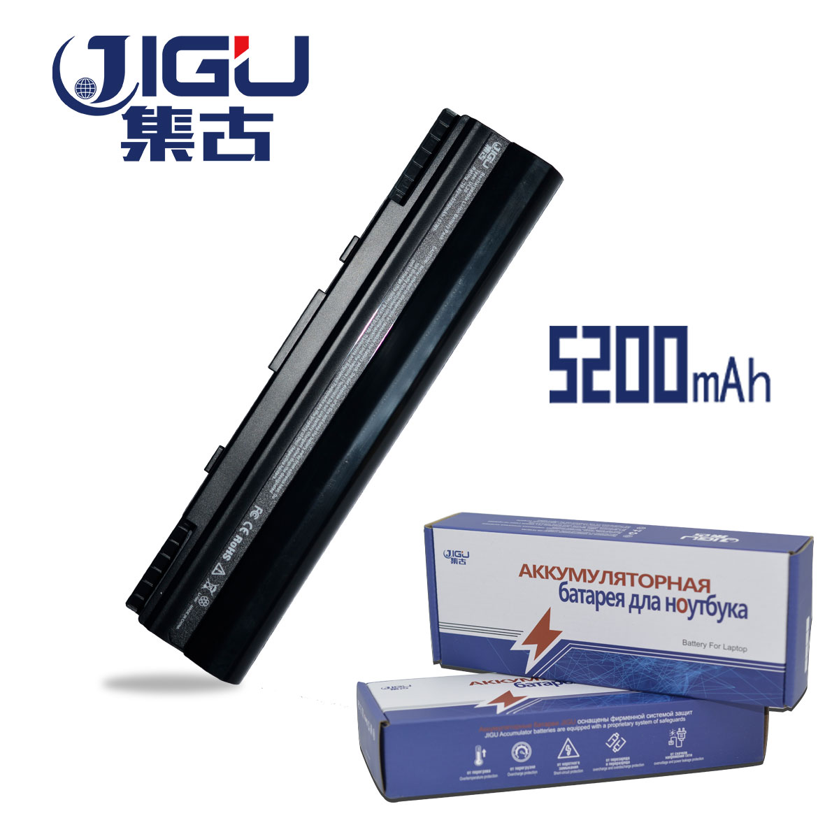 JIGU 6Cells Laptop Battery For Asus Eee PC 1201 1201HA 1201N 1201T UL20 UL20A UL20G UL20VT 90-NX62B2000Y 90-NX62B2000Y A32-UL20
