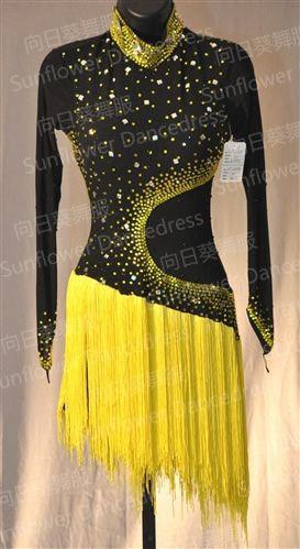Sonnig Neue! Latin Dance Kleid, Tango Salsa Samba Tanz Kleid, Latin Dance Verschleiß, Cha-cha Dance Dressdmc Steine Fringe Latin Kleid, Gi