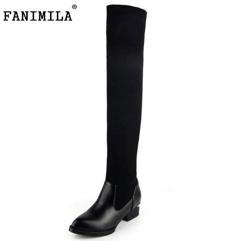 Lady High Heel Shoes Women Over Knee Boots Women's Martin Winter Snow Boot Warm Botas Classics Fashion Footwear Shoes Size 34-42 serene handmade winter warm socks boots fashion british style leather retro tooling ankle men shoes size38 44 snow male footwear