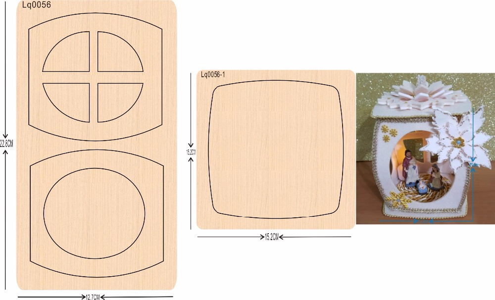 lantern 1 new wooden mould cutting dies for scrapbooking Thickness 15 8mm