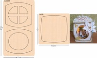lantern 1 new wooden mould cutting dies for scrapbooking Thickness 15.8mm