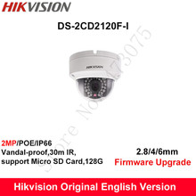 In Stock Hikvision English Security Camera DS-2CD2120F-I 2MP CCTV Camera IP Camera POE Dome Camera IP66 support SD Card 128G
