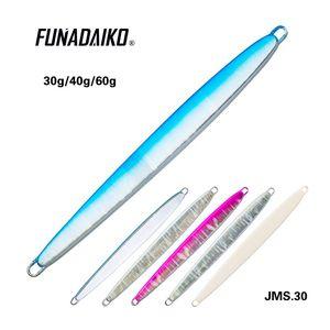 Image 4 - FUNADAIKO leurre métallique, appât artificiel à action lente, 20/30/40/60/80g, lot de 5 unités