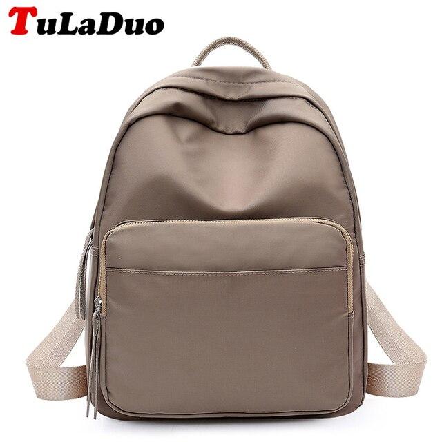 b01a5df8f4f Korean Women Backpack Small Fashion Waterproof Nylon Backpack Student School  Bag College Backpacks For Teenage Girls